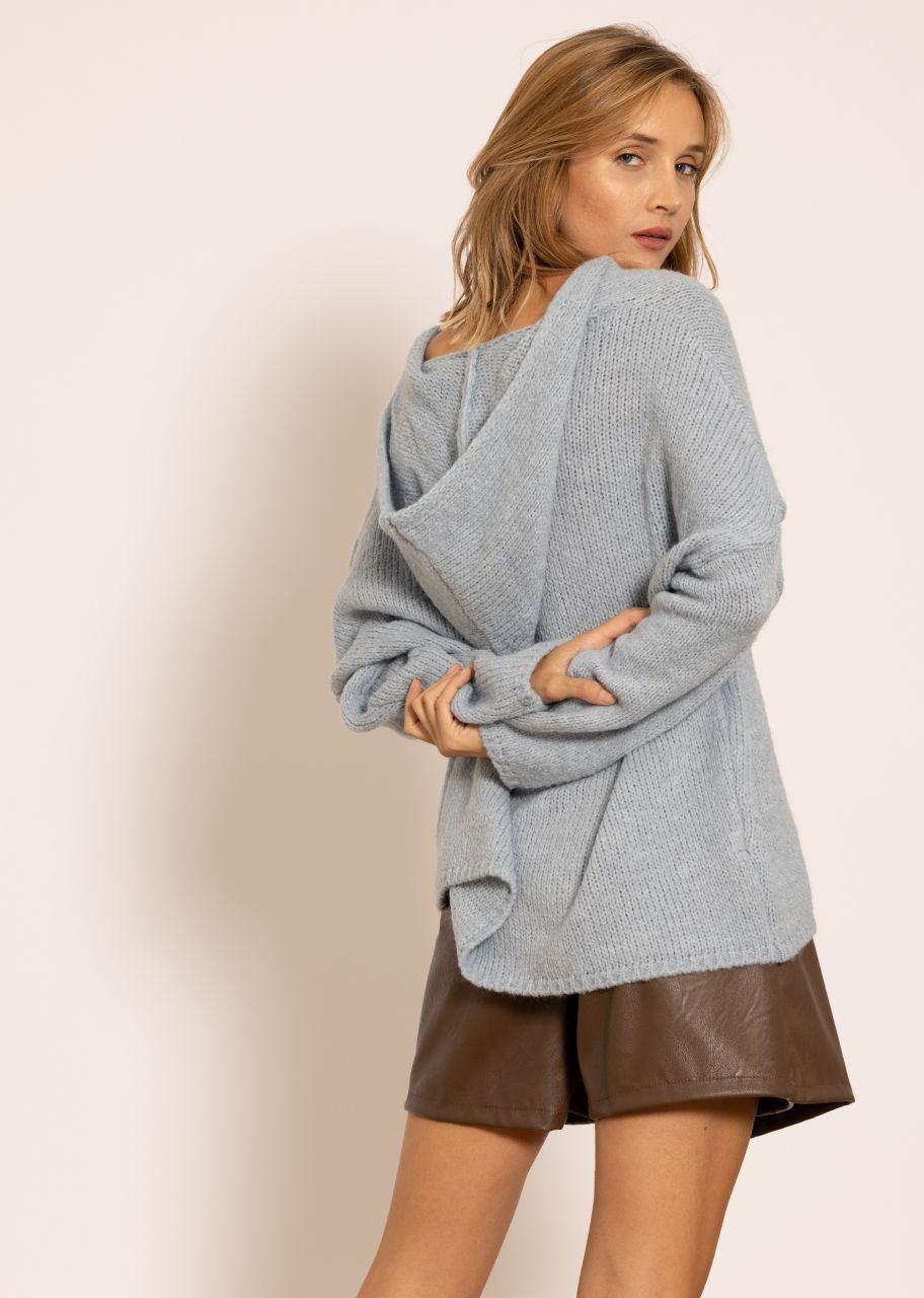 Pullover mit Hoodie, hellblau