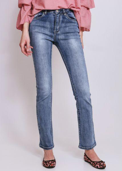 Helle Highwaist Flare Jeans, blau
