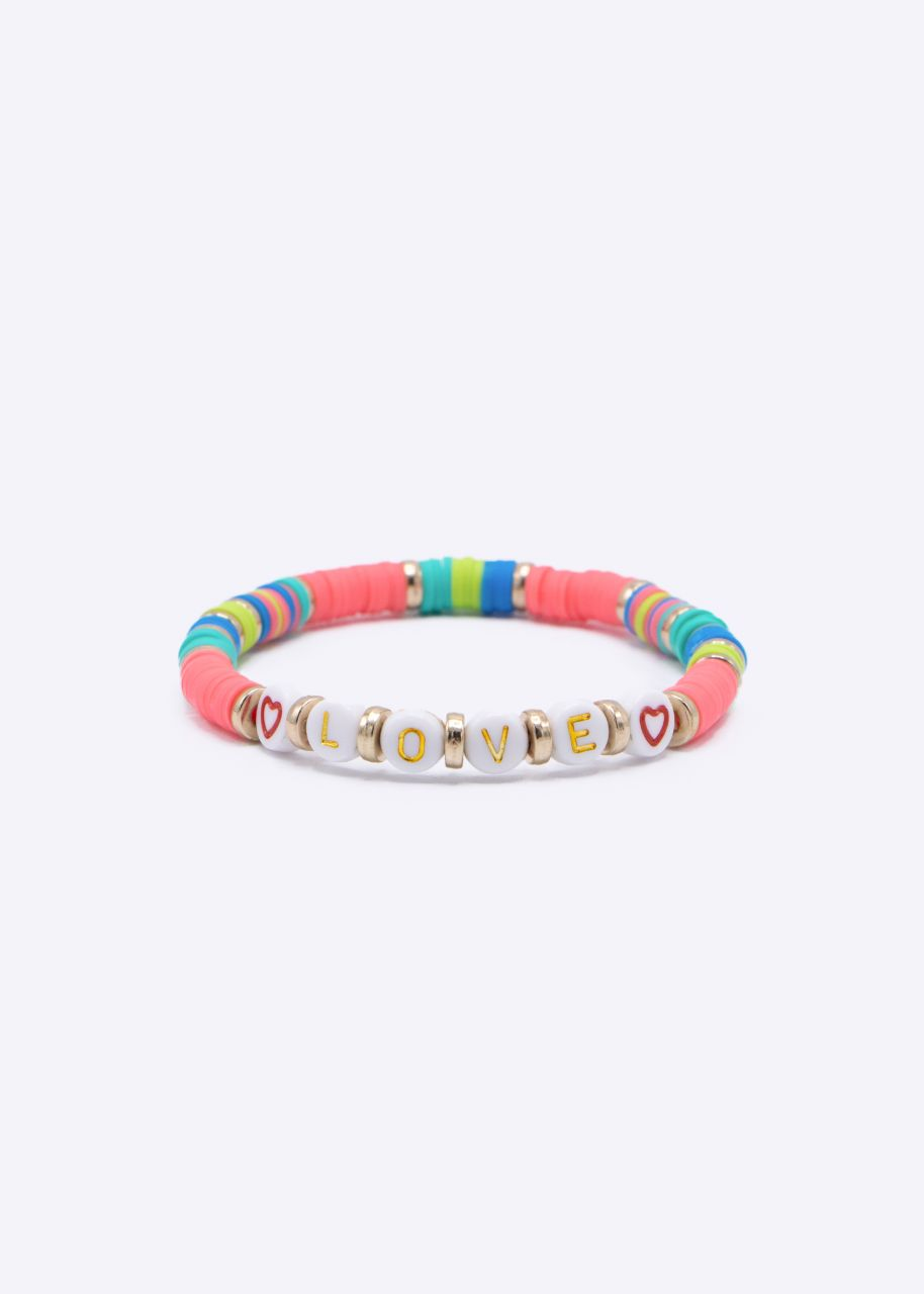 Armband mit LOVE, pink