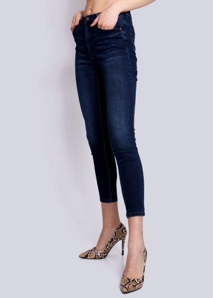 Highwaist Jeans in dunkler Waschung