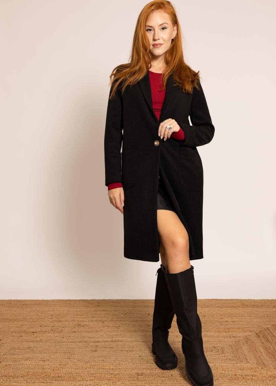 Fliessender Mantel,schwarz