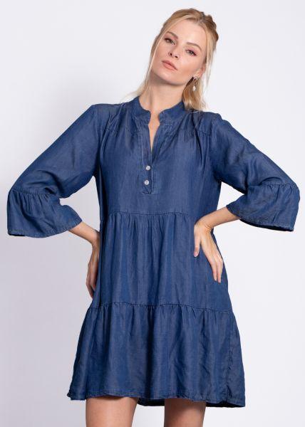 Tunika-Kleid, jeansblau