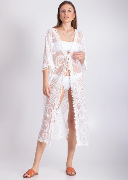 Spitzen-Kimono, weiß