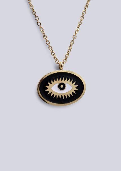 """Halskette mit Anhänger """"Auge,"""" gold"""