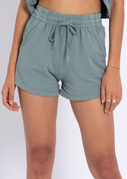 Jersey-Shorts, grün