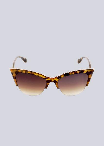 Cat-Eye Sonnenbrille mit gold Akzent, Leo
