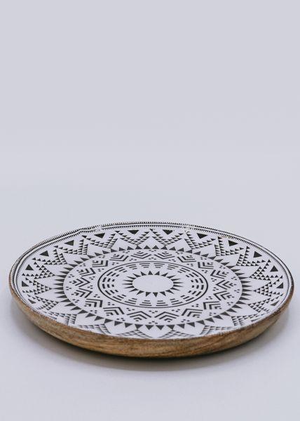 Holzteller mit Muster