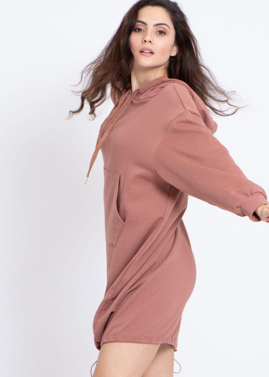 Oversize Loungewear-Kleid, mauve