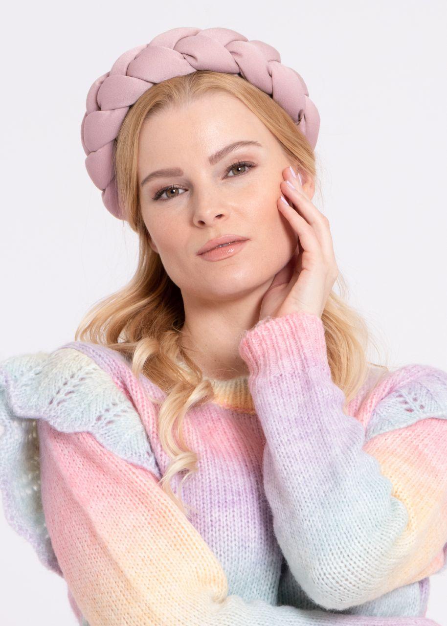 Geflochtener Haarreif, rosa