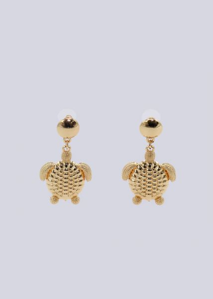 Ohrstecker mit Schildkröte, gold