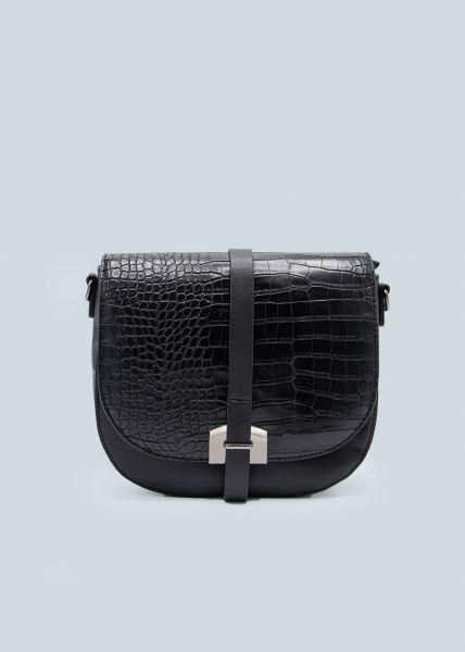 Überschlagtasche, schwarz
