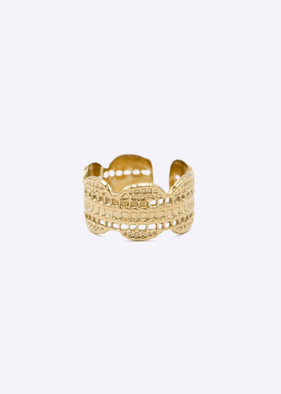 Ring mit Struktur, gold