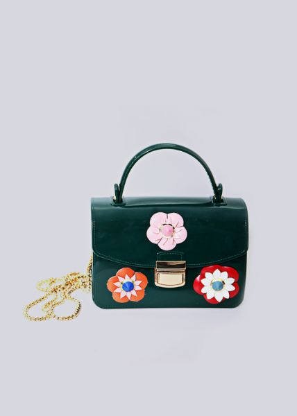 Mini-Bag mit Blüten, grün