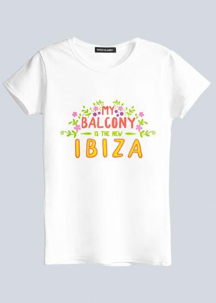 "T-Shirt ""IBIZA"", weiß"