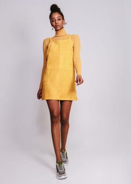 Mini Trägerkleid, gelb