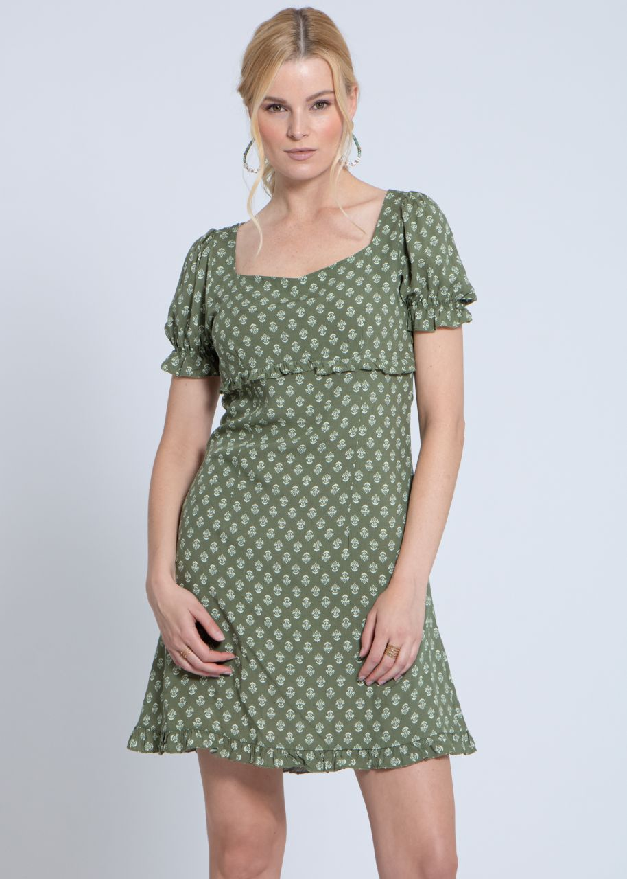 Kleid mit Print, khaki