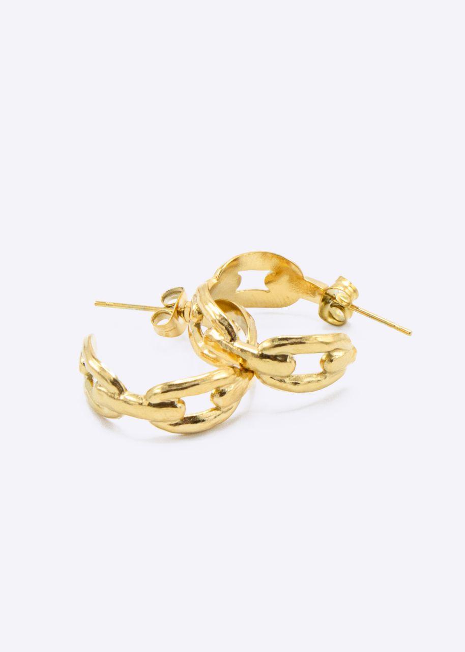 Creolen mit Struktur, gold