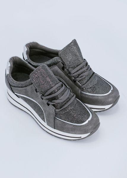 Metallic Sneaker, silbern