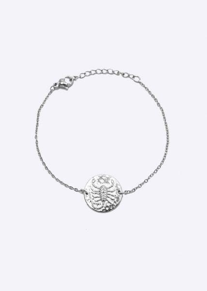 Armkette mit Sternzeichen Skorpion, silber