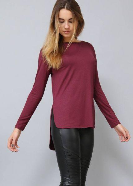 Longshirt, bordeaux