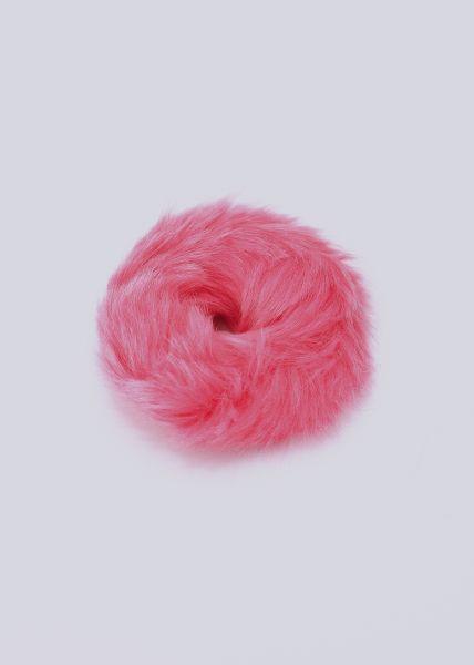 Scrunchie aus Kunstfell, pink