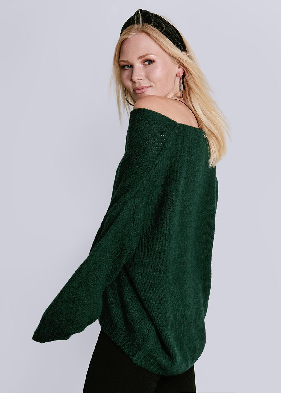 competitive price 38e16 5a7da Oversize pullover with V-neck, green