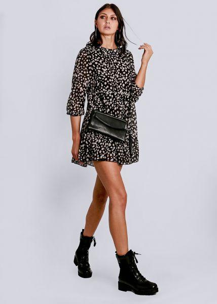 Hängerchenkleid mit Bubi-Kragen, schwarz