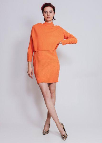 Strickkleid mit Pullunder, orange