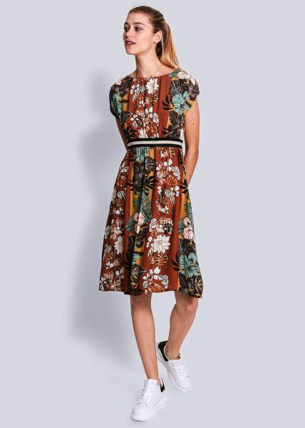 Kleid mit Taillenbetonung, braun