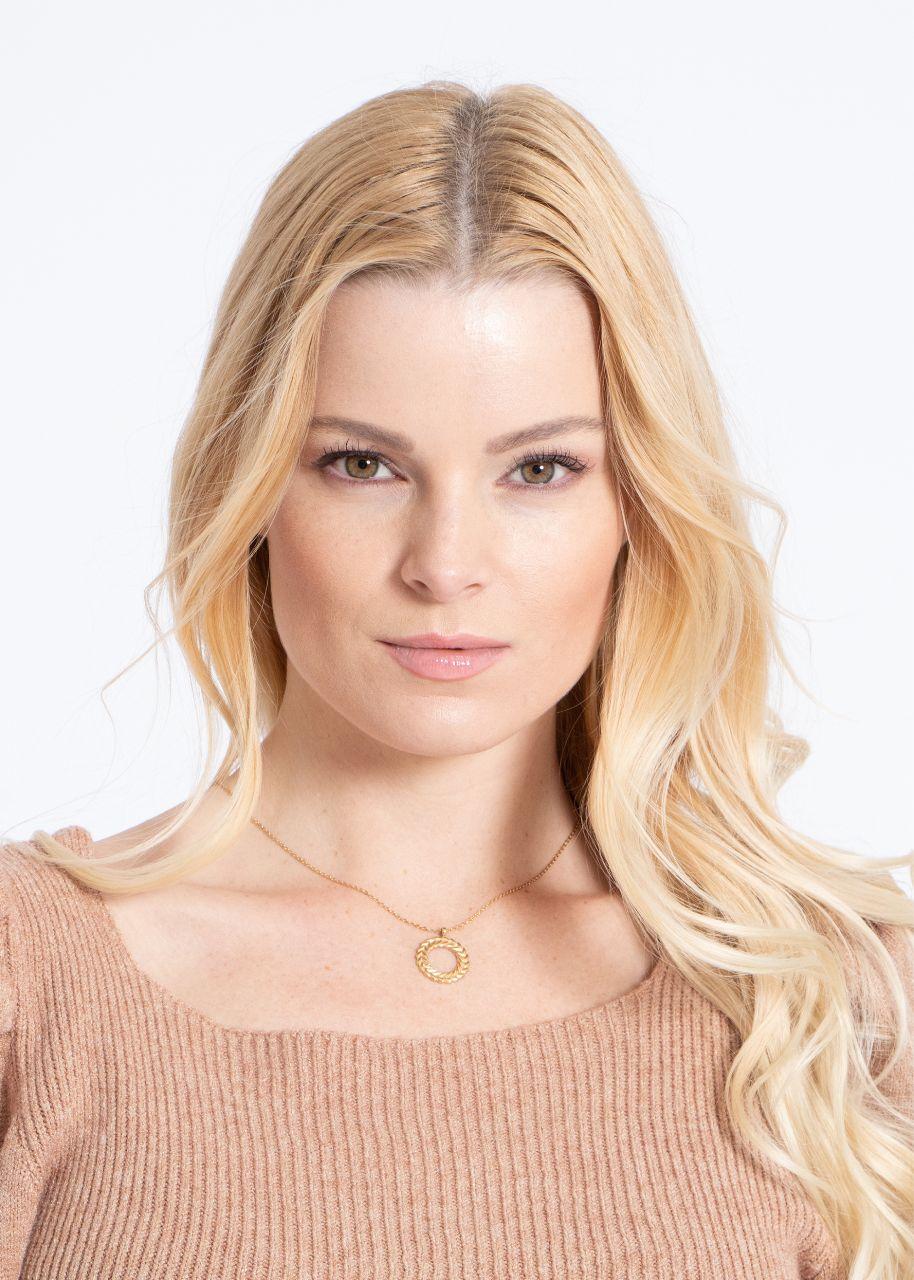 Halskette Kreis-Anhänger, gold