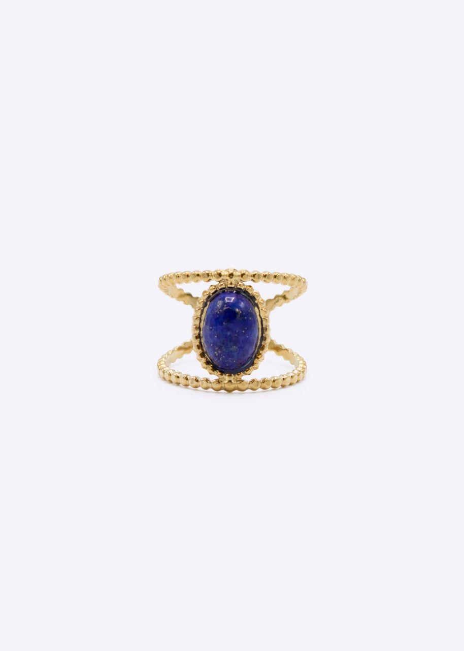 Ring mit Lapislazuli Stein, gold