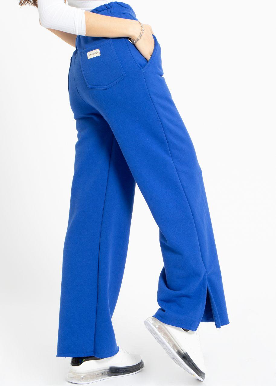 Cosy wide Loungepants, royalblau