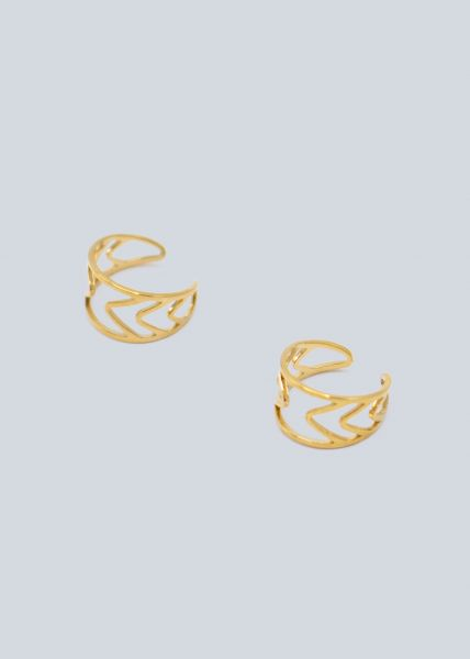 Ear-Cuff-Set, gold