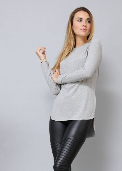 Longshirt, grau