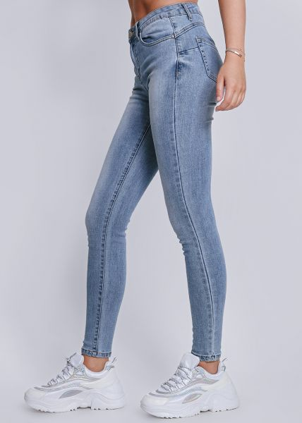 Push-Up Jeans in heller Waschung