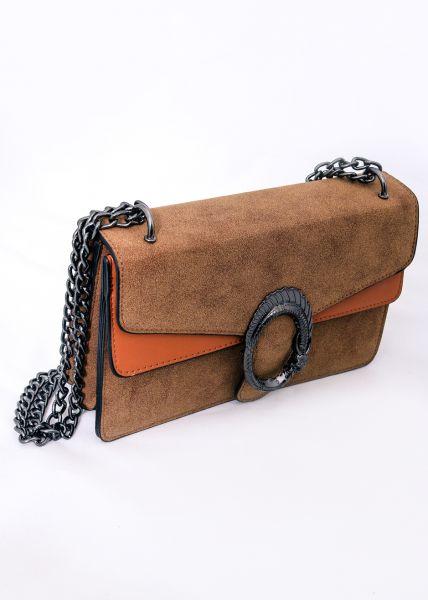 Velvet-Bag, cognacbraun