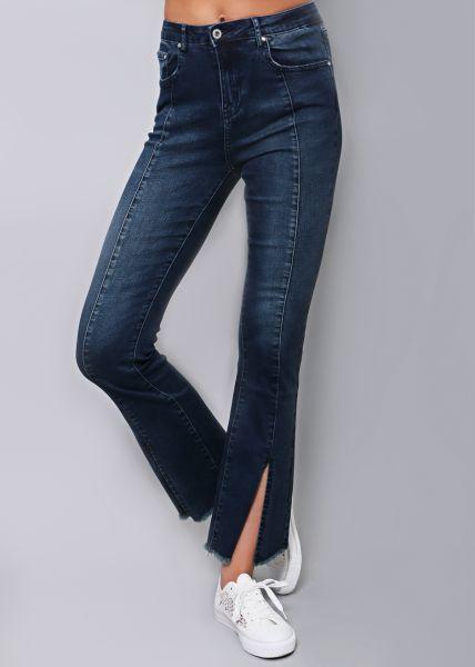 Knöchellange Jeans mit Schlag
