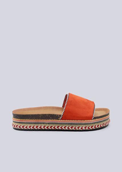 Plateau-Slider mit silbernen Perlchen, orange