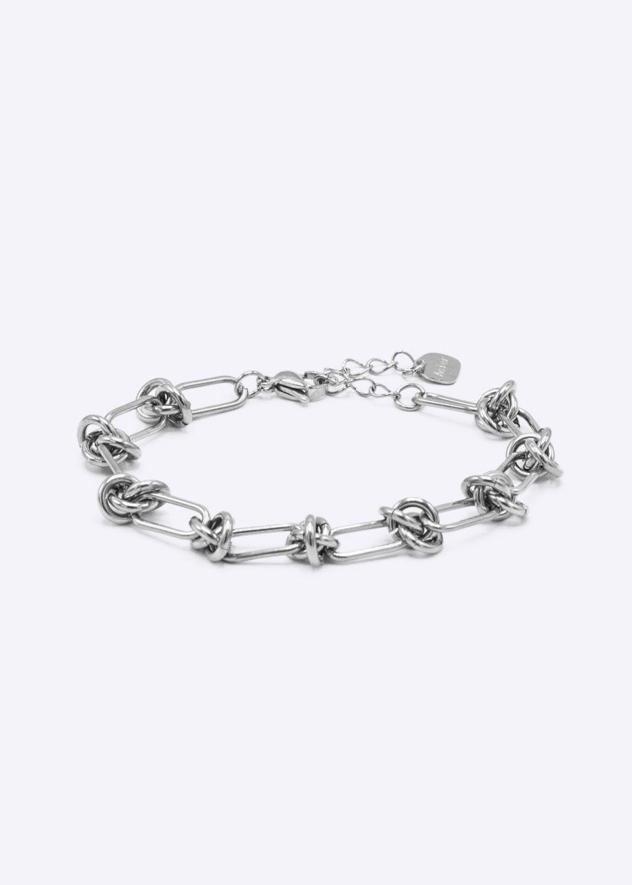 Armkette mit Knoten, silber