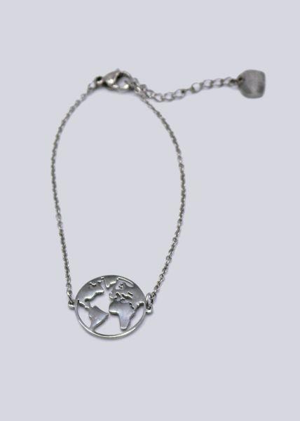 """Armkette """"Welt"""", silber"""