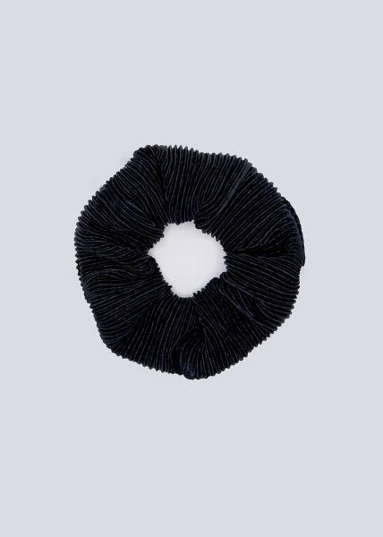 Plissée-Scrunchie, schwarz