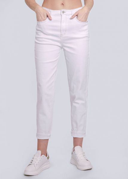 Relax-Fit Jeans, weiß