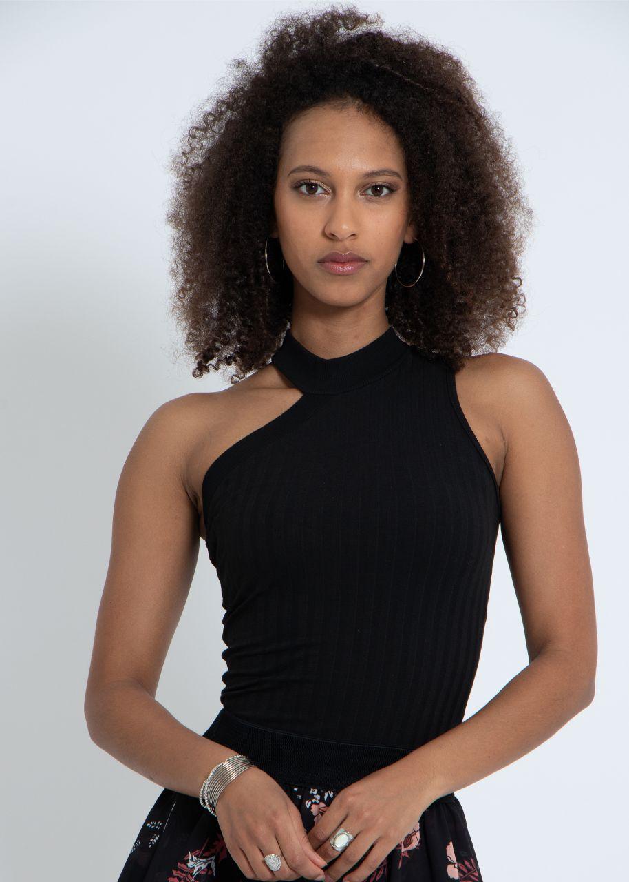 Asymmetrisches Top, schwarz