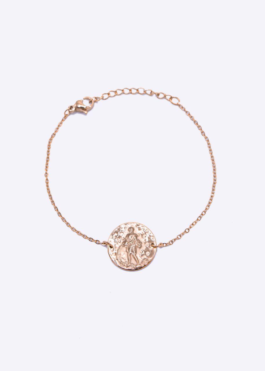 Armkette mit Sternzeichen Wassermann, roségold