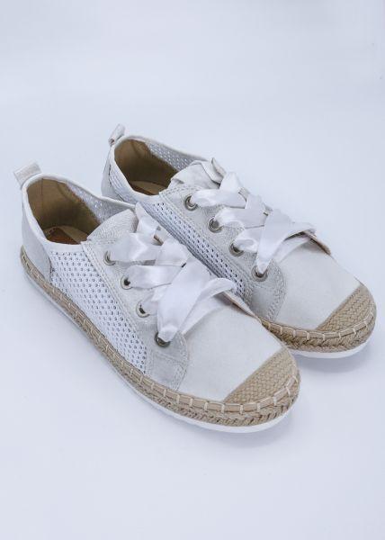 Espadrilles-Sneaker, weiß
