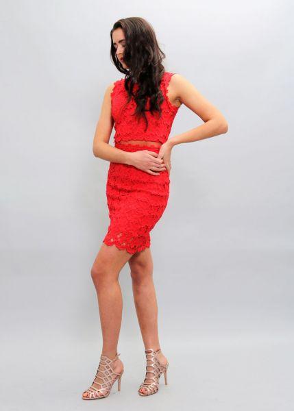 Spitzen-Kleid, rot