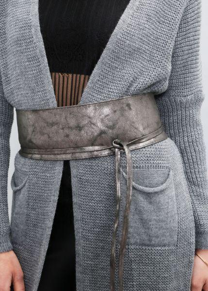 Bindegürtel, metallic silbern