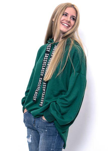 Oversize SassyClassy Hoodie, grün
