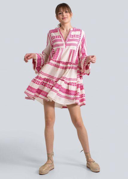 Lässiges Tunika-Kleid mit Print, pink