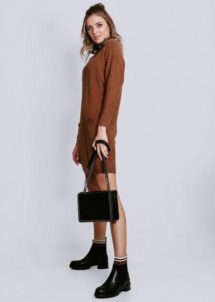 Strick-Tunika mit Taschen, camel